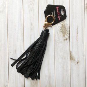 Accessories - Black Tassel Purse Charm